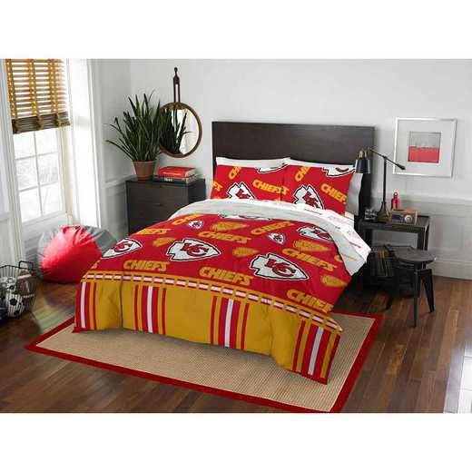 1NFL864000007EDC: NFL 864 Kansas City Chiefs Full Bed In a Bag Set