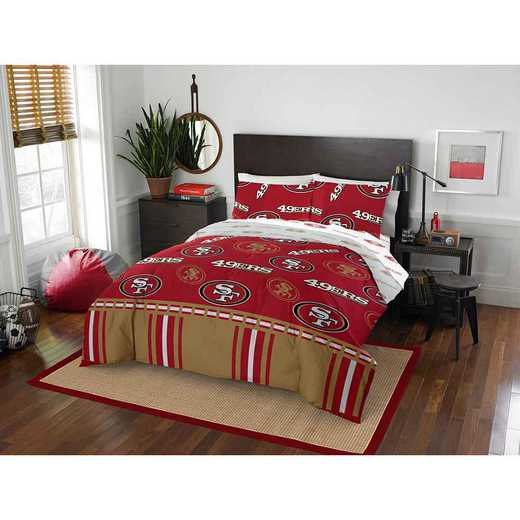 1NFL864000013EDC: NFL 864 San Francisco 49ers Full Bed In a Bag Set