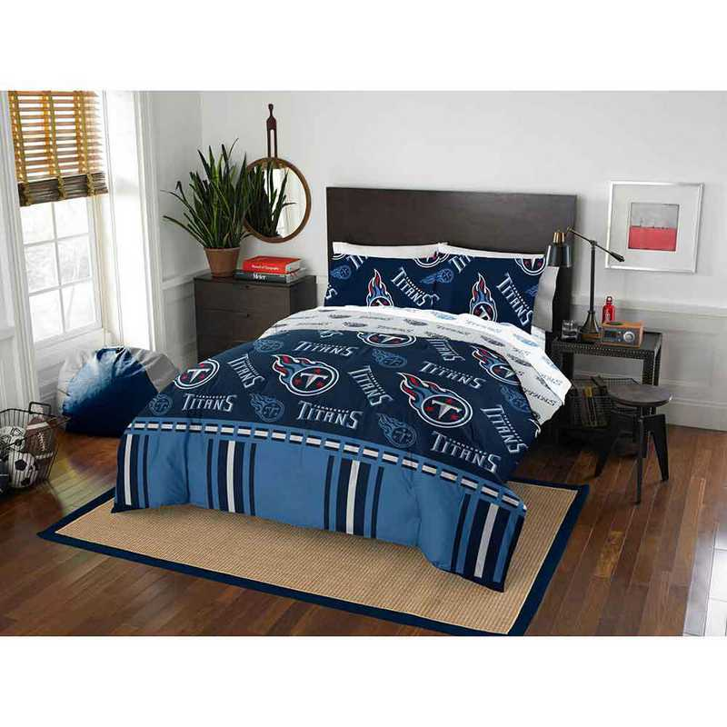 1NFL864000016EDC: NFL 864 Tennessee Titans Full Bed In a Bag Set