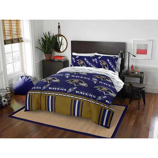 1NFL864000077EDC: NFL 864 Baltimore Ravens Full Bed In a Bag Set