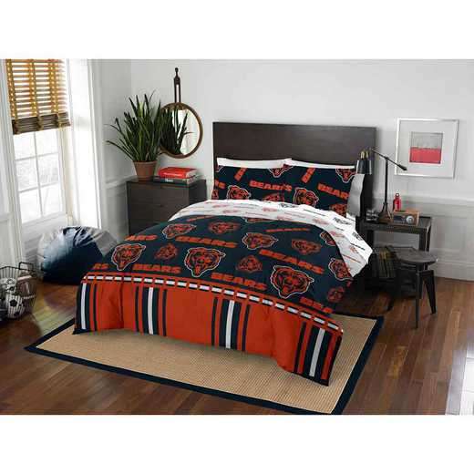1NFL875000001EDC: NFL 875 Chicago Bears Queen Bed In a Bag Set