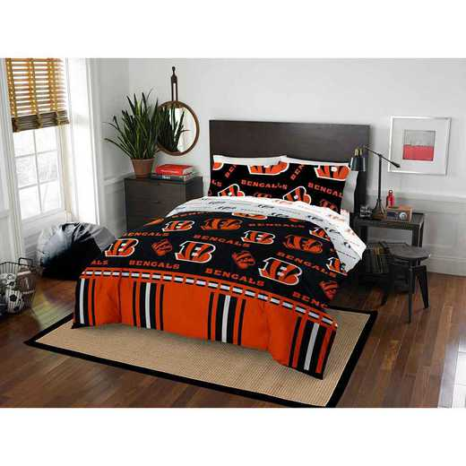 1NFL875000002EDC: NFL 875 Cincinnati Bengals Queen Bed In a Bag Set