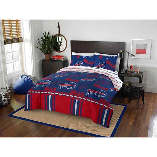 1NFL875000003EDC: NFL 875 Buffalo Bills Queen Bed In a Bag Set