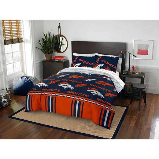 1NFL875000004EDC: NFL 875 Denver Broncos Queen Bed In a Bag Set