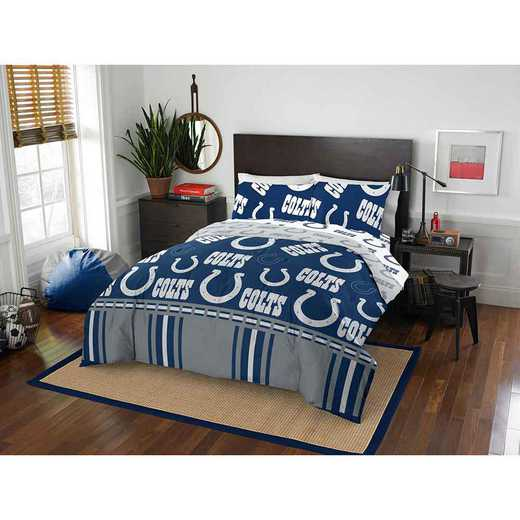 1NFL875000008EDC: NFL 875 Indianapolis Colts Queen Bed In a Bag Set