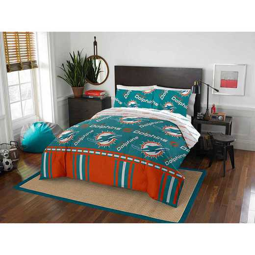1NFL875000010EDC: NFL 875 Miami Dolphins Queen Bed In a Bag Set