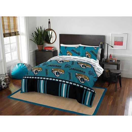 1NFL875000014EDC: NFL 875 Jacksonville Jaguars Queen Bed In a Bag Set