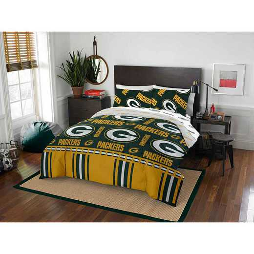 1NFL875000017EDC: NFL 875 Green Bay Packers Queen Bed In a Bag Set