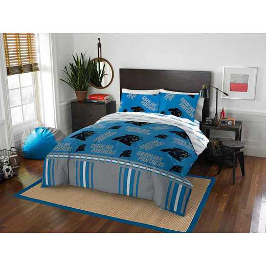 1NFL875000018EDC: NFL 875 Carolina Panthers Queen Bed In a Bag Set