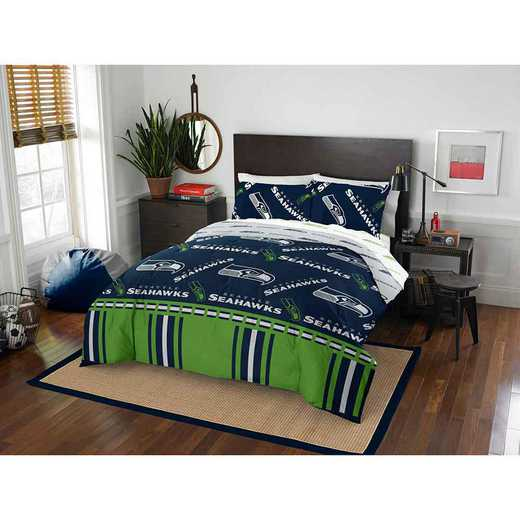 1NFL875000022EDC: NFL 875 Seattle Seahawks Queen Bed In a Bag Set