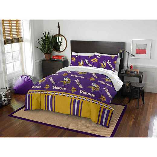 1NFL875000023EDC: NFL 875 Minnesota Vikings Queen Bed In a Bag Set