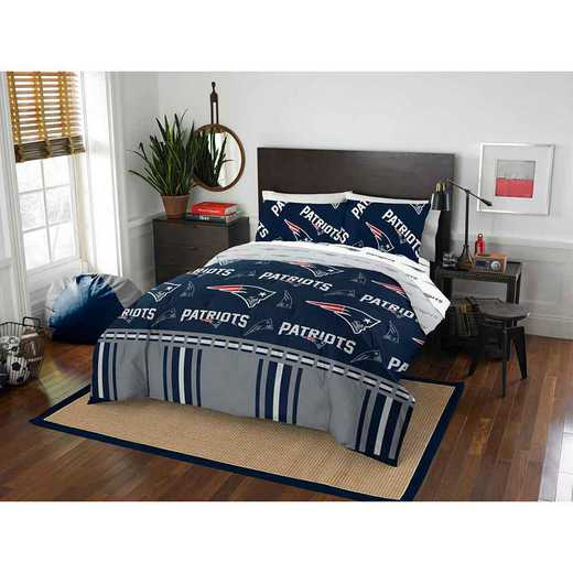 1NFL875000076EDC: NFL 875 New England Patriots Queen Bed In a Bag Set