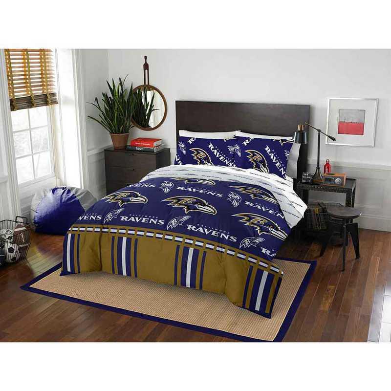 1NFL875000077EDC: NFL 875 Baltimore Ravens Queen Bed In a Bag Set