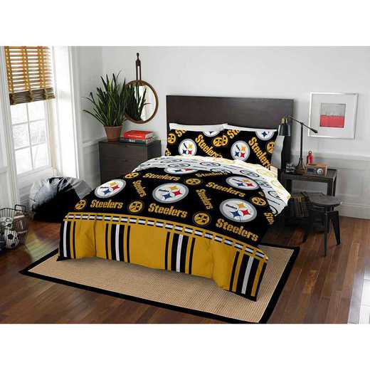 1NFL875000078EDC: NFL 875 Pittsburgh Steelers Queen Bed In a Bag Set