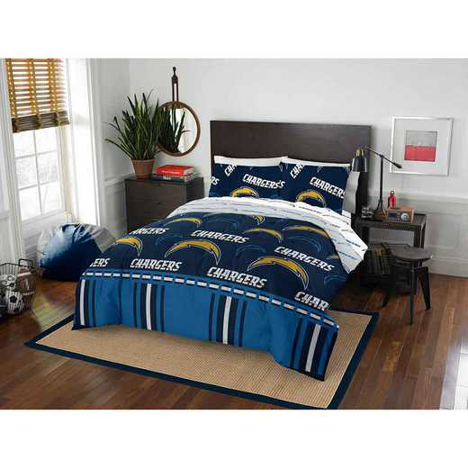 1NFL875000079EDC: NFL 875 LA Chargers Queen Bed In a Bag Set