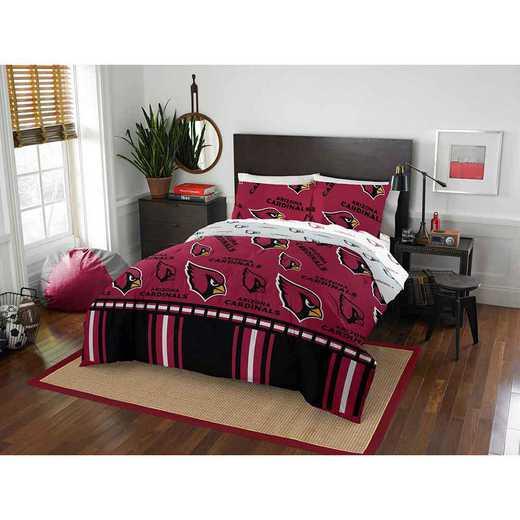 1NFL875000080EDC: NFL 875 Arizona Cardinals Queen Bed In a Bag Set