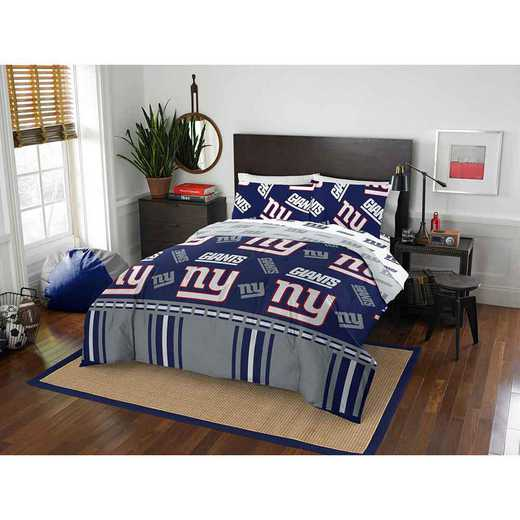 1NFL875000081EDC: NFL 875 New York Giants Queen Bed In a Bag Set