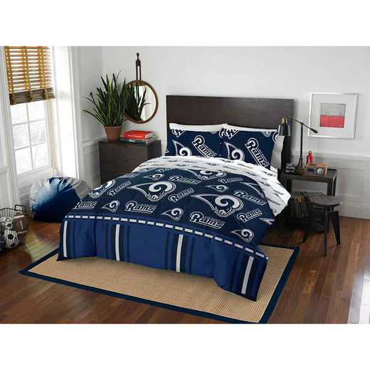 1NFL875000083EDC: NFL 875 La Rams Queen Bed In a Bag Set