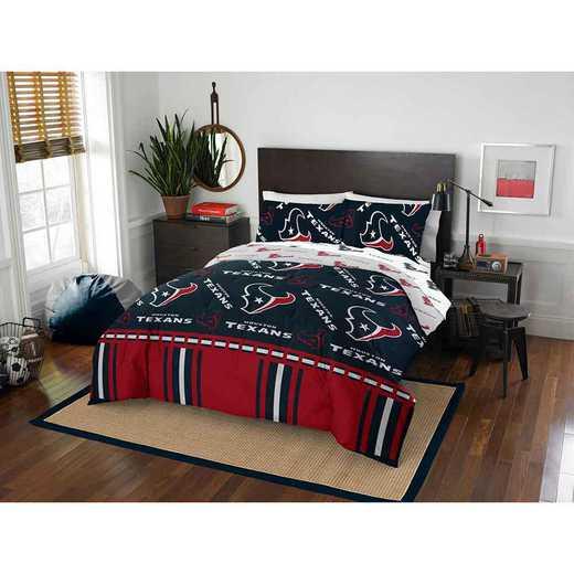 1NFL875000119EDC: NFL 875 Houston Texans Queen Bed In a Bag Set