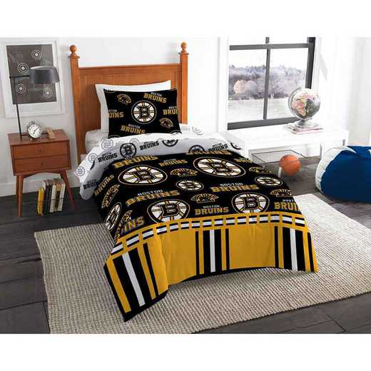 1NHL808000001EDC: NHL 808 Boston Bruins Twin Bed In a Bag Set