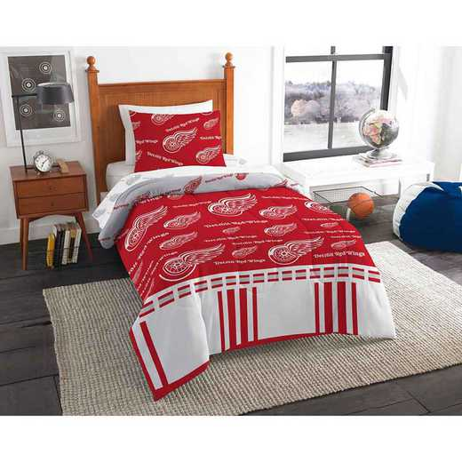 1NHL808000006EDC: NHL 808 Detroit Red Wings Twin Bed In a Bag Set