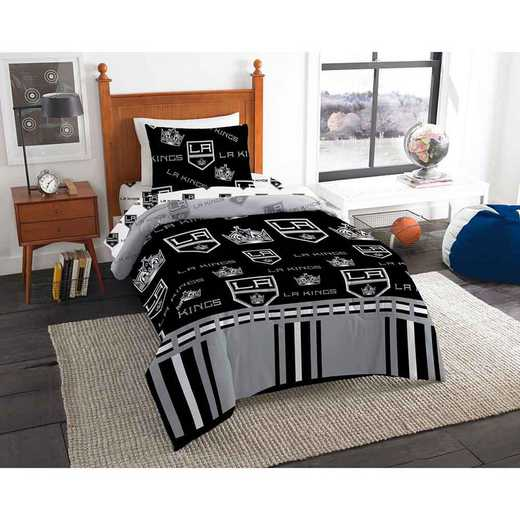 1NHL808000010EDC: NHL 808 Los Angeles Kings Twin Bed In a Bag Set