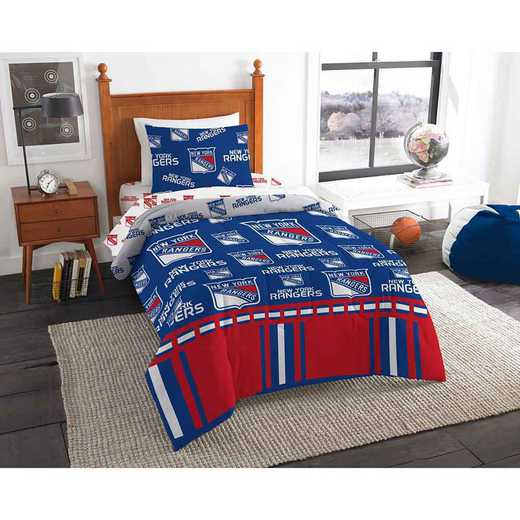 1NHL808000015EDC: NHL 808 New York Rangers Twin Bed In a Bag Set