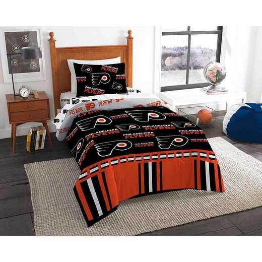 1NHL808000017EDC: NHL 808 Philadelphia Flyers Twin Bed In a Bag Set