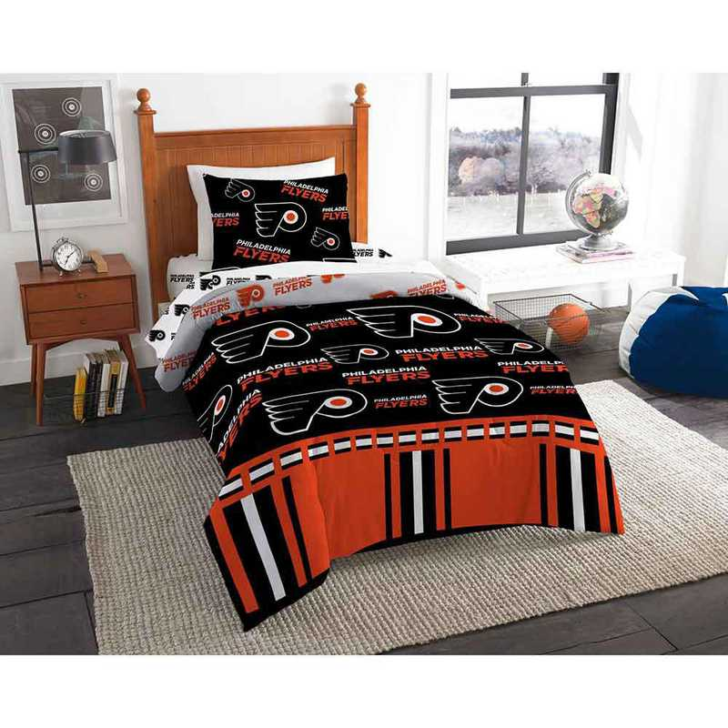 1NHL808000017EDC: NHL 808 Philadelphia Flyers Twin Bed In a Bag Set