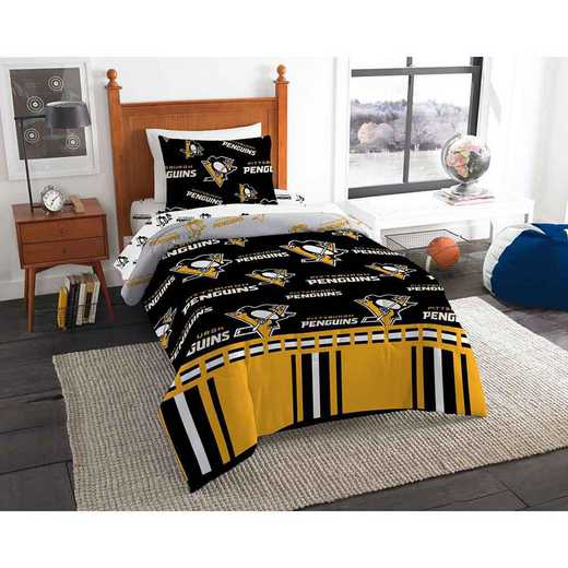 1NHL808000018EDC: NHL 808 Pittsburgh Penguins Twin Bed In a Bag Set