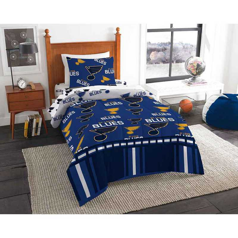 1NHL808000021EDC: NHL 808 St Louis Blues Twin Bed In a Bag Set