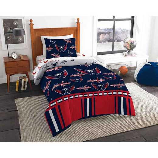 1NHL808000025EDC: NHL 808 Washington Capitals Twin Bed In a Bag Set