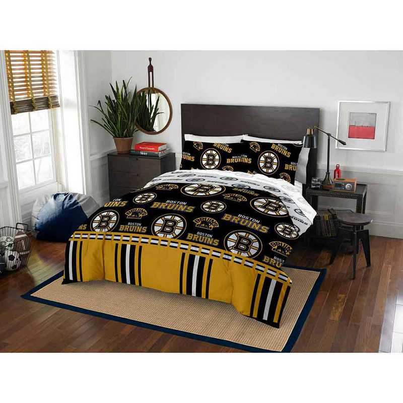 1NHL864000001EDC: NHL 864 Boston Bruins Full Bed In a Bag Set