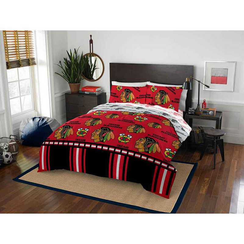 1NHL864000004EDC: NHL 864 Chicago Blackhawks Full Bed In a Bag Set