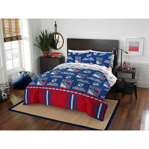 1NHL864000015EDC: NHL 864 New York Rangers Full Bed In a Bag Set