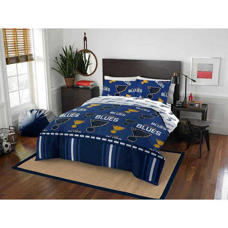 1NHL864000021EDC: NHL 864 St Louis Blues Full Bed In a Bag Set