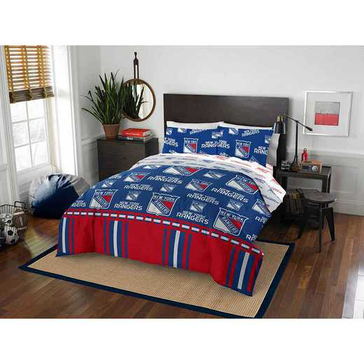 1NHL875000015EDC: NHL 875 New York Rangers Queen Bed In a Bag Set