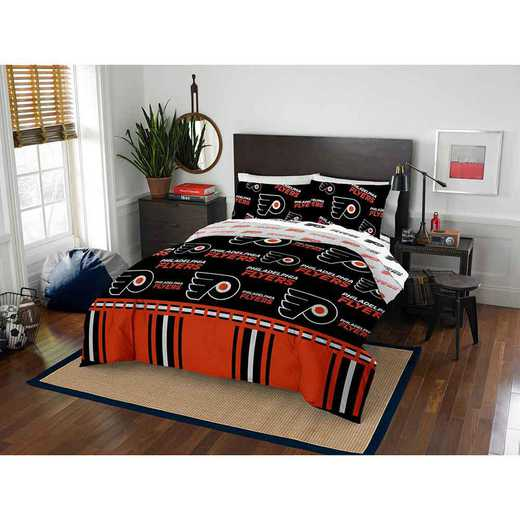 1NHL875000017EDC: NHL 875 Philadelphia Flyers Queen Bed In a Bag Set