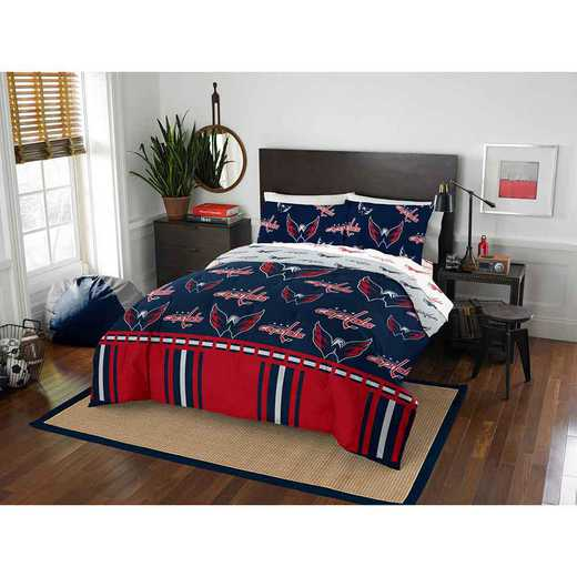 1NHL875000025EDC: NHL 875 Washington Capitals Queen Bed In a Bag Set