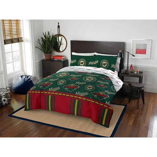 1NHL875000032EDC: NHL 875 Minnesota Wild Queen Bed In a Bag Set