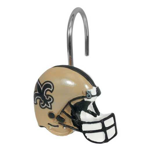 1NFL942004021WMT: NFL 942 Saints Shower Curtain Rings