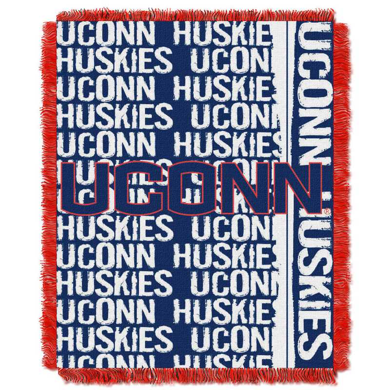 1COL019030001RET: NW COL Double Play Tapestry Throw, UCONN