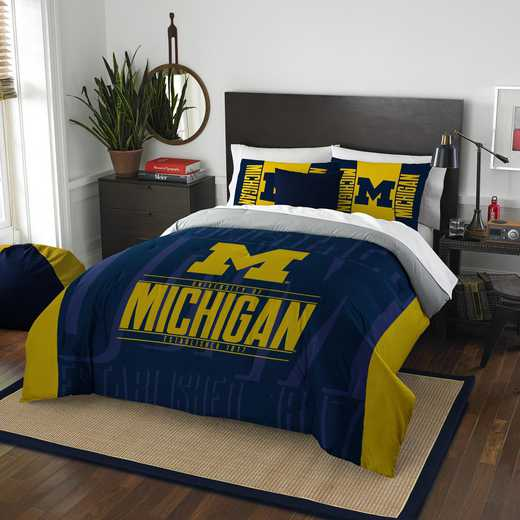 1COL849000021RET: NW NCAA F/Q Comforter Set, Michigan