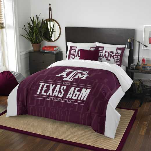 1COL849000034RET: NW NCAA F/Q Comforter Set, Texas A&M
