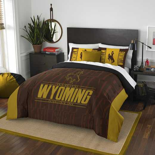 1COL849000066RET: NW NCAA F/Q Comforter Set, Wyoming