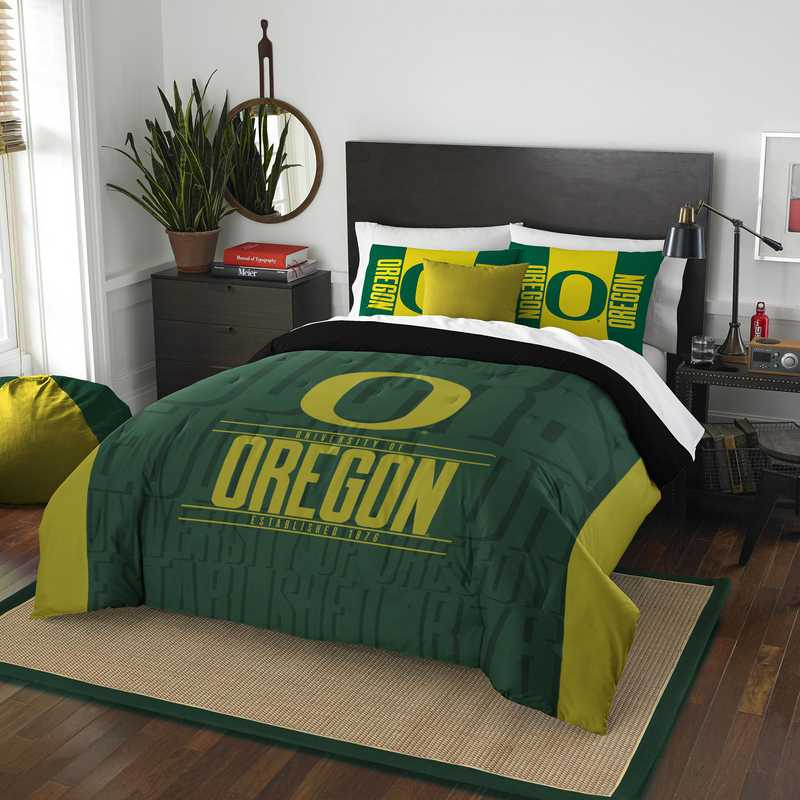 Oregon Ducks Gametime Full Queen Comforter Amp Sham Set