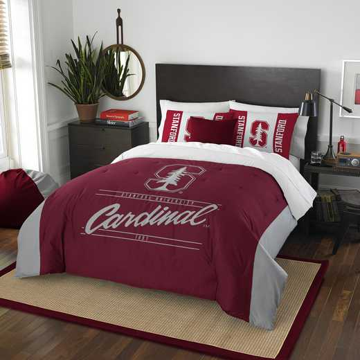 1COL849000091RET: NW NCAA F/Q Comforter Set, Stanford