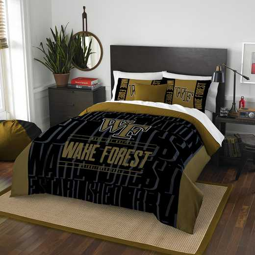 1COL849000095RET: NW NCAA F/Q Comforter Set, Wake Forest