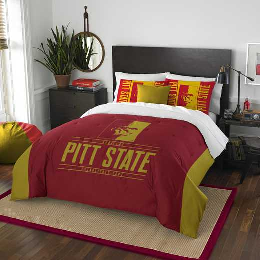 1COL849000111RET: NW NCAA F/Q Comforter Set, Pittsburgh St