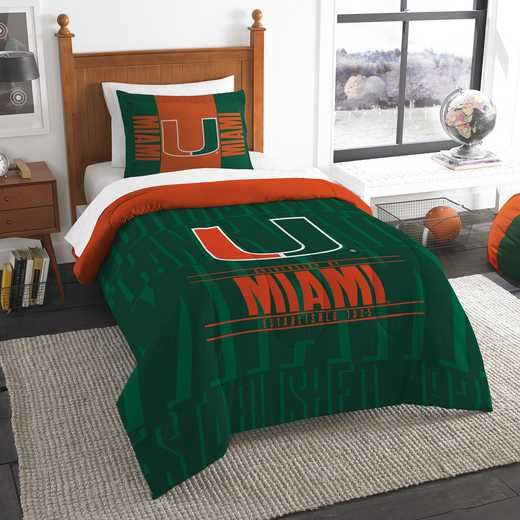 1COL862000011RET: NW NCAA Twin Comforter Set, Miami